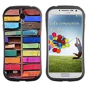 Suave TPU GEL Carcasa Funda Silicona Blando Estuche Caso de protección (para) Samsung Galaxy S4 I9500 / CECELL Phone case / / Colorful Drawing Art Messy /