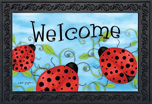 Briarwood Spring - Ladybug Welcome Spring Doormat Indoor Outdoor 18