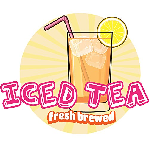 "ICED TEA 12"" Concession Decal sign cart trailer stand sticker equipment"