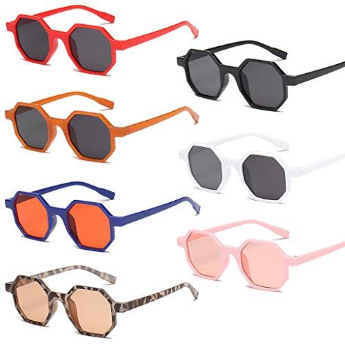 Mujer Showed The para Sol Niños Gafas Mujer 3 UV400 cuadradas Diseño AS SLYlive Hombre de Niña Adulto Unisex 6 geométricas Picture Vintage fYqnS