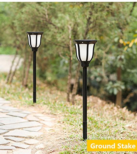 MEIO Solar Lights Outdoor, 96 LED Solar Torch Lights Outdoor Dancing Flickering Flames, Solar Powered Post Lights Dusk to Dawn Auto On/Off for Garden Patio Yard (1 Pack)