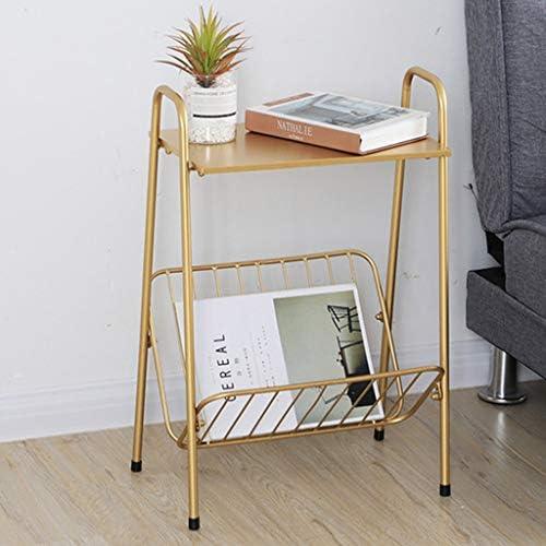 コーヒーテーブル リビングルームソファサイドテーブルコーヒーテーブルストレージテーブル、ゴールデンノルディックスモールエンドテーブル、リビングルームベッドルームオフィスKWX-6に最適