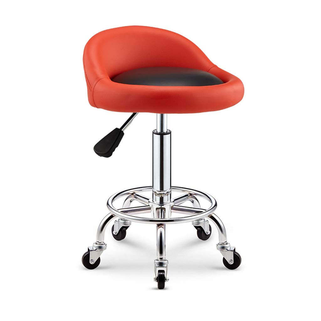 H PU Leather Bar Stools,with Leatherette Exterior Adjustable Gas Lift Breakfast Chair Chrome Plated Footrest and Base Dining Chair for Bar, Counter,Home,Cafe(color Optional) (color   G)