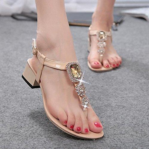 Sandales Diamant De Femmes Beige Mode wqxnB8YfS