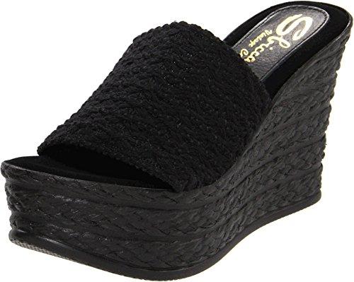 Sbicca Women's Cabana Platform Sandal,Black,6 B (Black Wedge Slide)