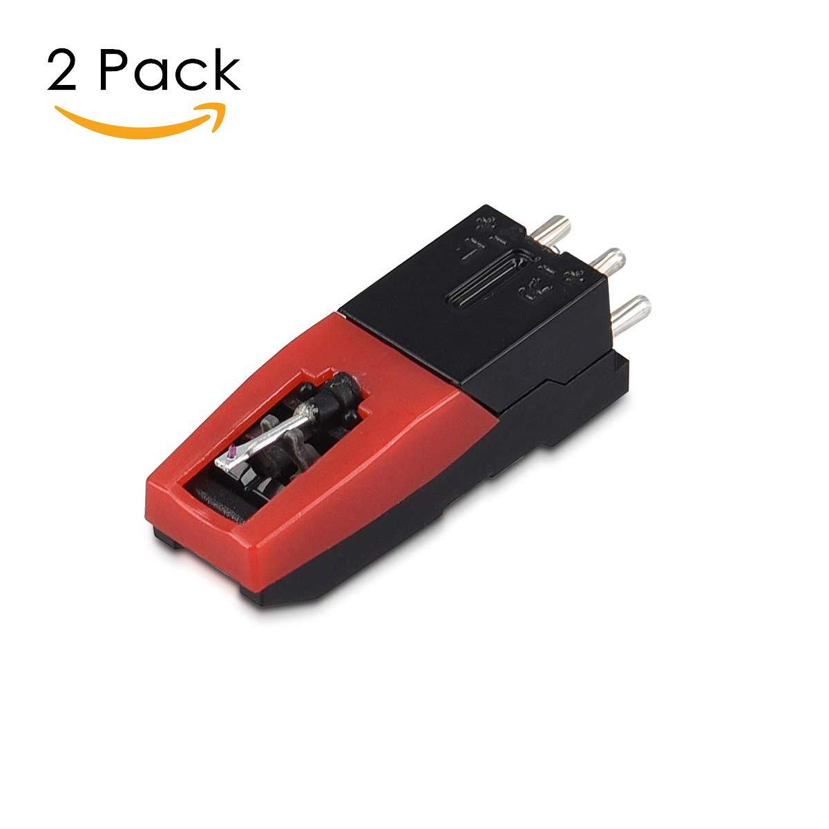 Amzdeal Giradischi stile vintage il supporto per la connessione Bluetooth Giradischi lettore portatile in vinile a 3 velocit/à con 2 altoparlanti venatura del legno con RCA e cricci di cuffie