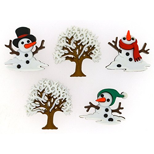 Dress It Up Buttons 9073 Snow Don't Go