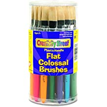 Creativity Street 5167 Colossal Brush, Natural Bristle, Flat (Set of 30)