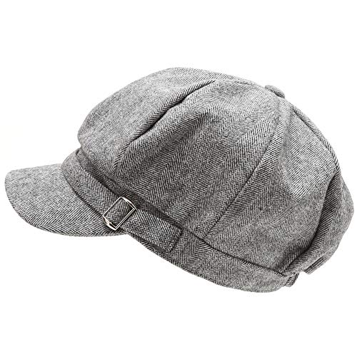 079c14c8063f0 MIRMARU Women s Classic Visor Baker boy Cap Newsboy Cabbie Winter Cozy Hat  with Comfort Elastic Back