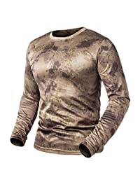 Long Sleeve Tactical Camouflage T-Shirt Men Soldiers Combat Military T Shirt Quick Dry O Neck Camo Army Shirt