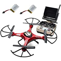JJRC H8D Mini RC Quadcopter Littleice 2.4G Remote Control 4Ch 6-Axis 5.8G FPV HD Camera+Monitor+2 Battery Drone Gift