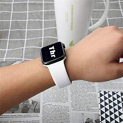 UPOLS 3 Pack Compatible with Apple Watch Band 38mm 42mm 40mm 44mm, Sport Strap Soft Silicone and Stainless Steel Band Compatible with iWatch Series 5/4/3/2/1