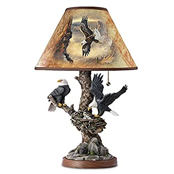 Lamp: Treetop Majesty Bald Eagle Lamp by The Bradford Exchange ...