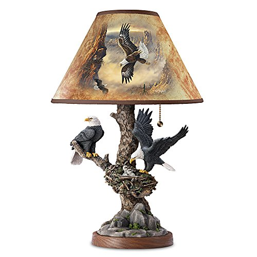 Lamp: Treetop Majesty Bald Eagle Lamp by The Bradford Exchange (Table Nest Lamp Bird)