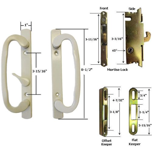 sliding glass door handle beige - 6