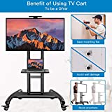 Rolling/Mobile TV Cart with Wheels for 32-70 Inch