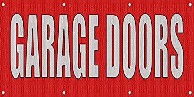 Garage Doors Red Home Remodeling MESH Windproof Fence Banner Sign 2 Ft X 4 Ft W/4 Grommets