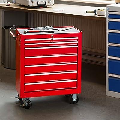 Servante Caisse à outils d/'atelier 7 tiroirs avec serrure.