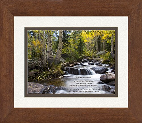 Framed Personalized Teacher Retirement Gift or Teacher Appreciation Gift or Award. River in Autumn Photo, with