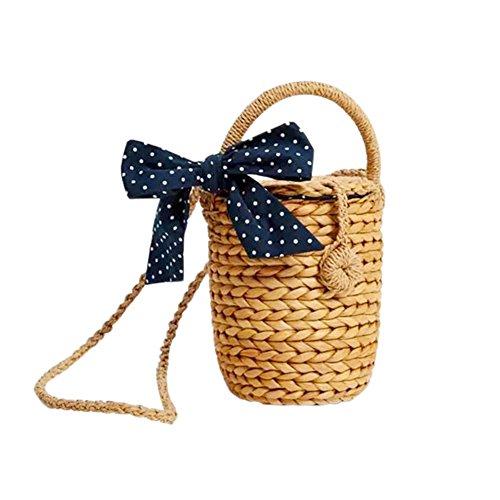 Sac à main en bambou,yunt fourre-tout tissé à la main sac fourre-tout paille sac de plage demi-lune pour les femmes, sac de bandoulière sac bandoulière de voyage tressé de paille