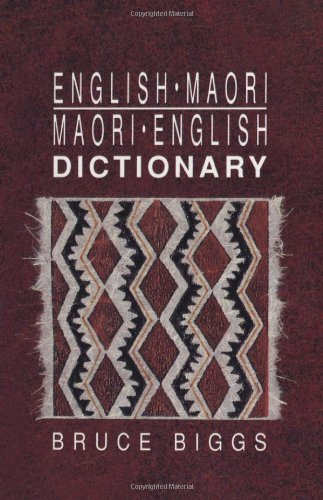 English–Maori, Maori–English Dictionary