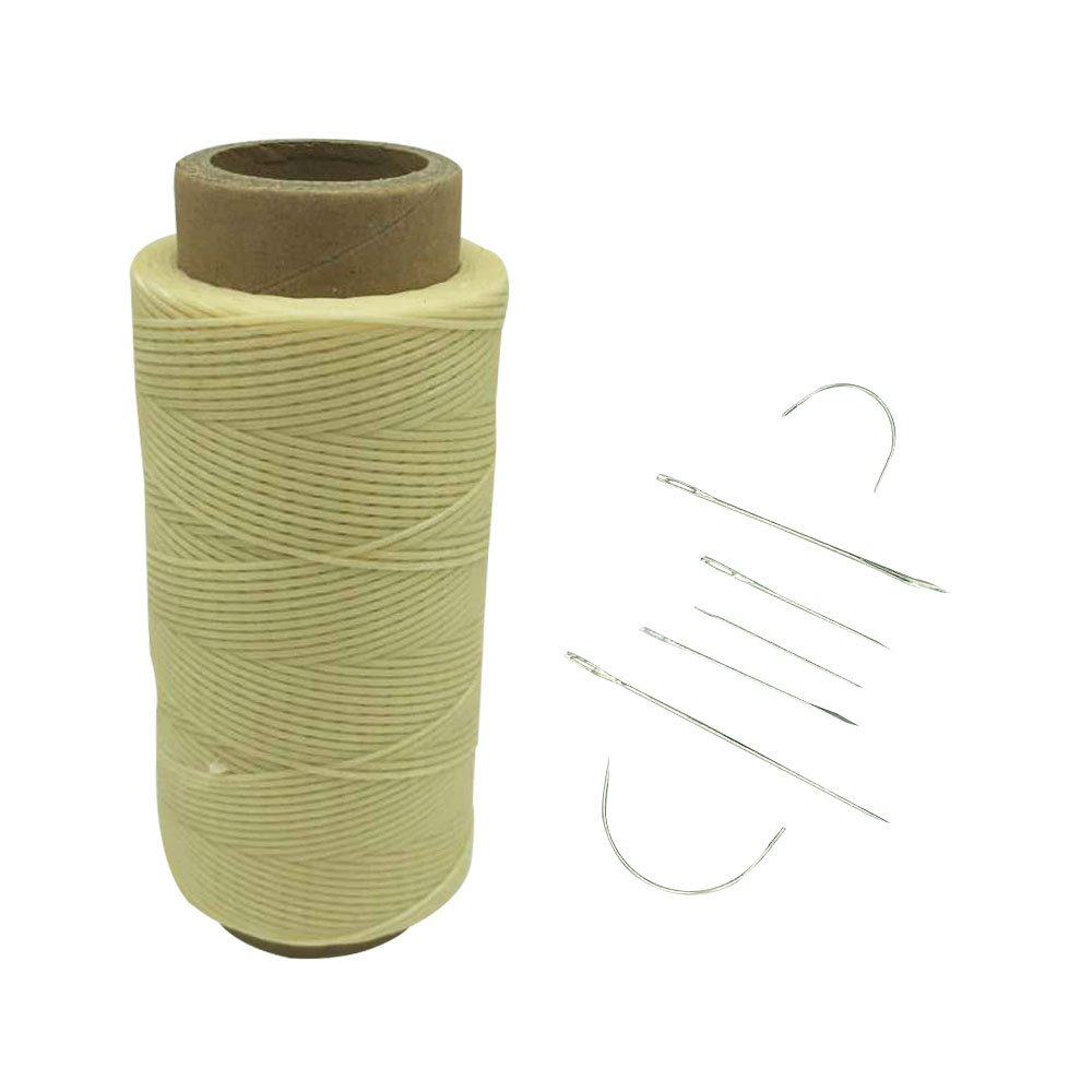 con 7 aghi per cuoio Red Yulakes 260/metri 1 mm Filo cerato per uso con aghi da cuoio nel cucito e nella lavorazione del cuoio