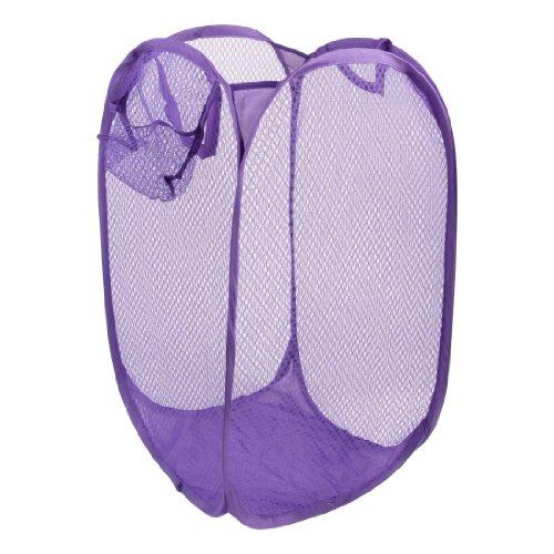 Mesh Design Pop up Bag Clothes Storage Foldable Laundry Bask