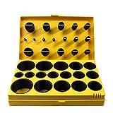 407pcs Universal Rubber O-Rings Assortment Kit for Plumbing, Automotive, and General Repair Black