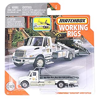 Matchbox Working Rigs International Durastar 4400 Flatbed, El Segundo City Towing