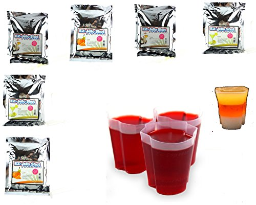 EZ Squeeze Halloween Candy Corn Mix and 200 Shot Cup Holiday (Halloween Drinks Tipsy Bartender)