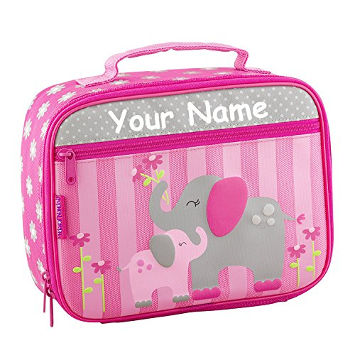 Personalized Stephen Joseph Elephant Themed Lunch Box With Name