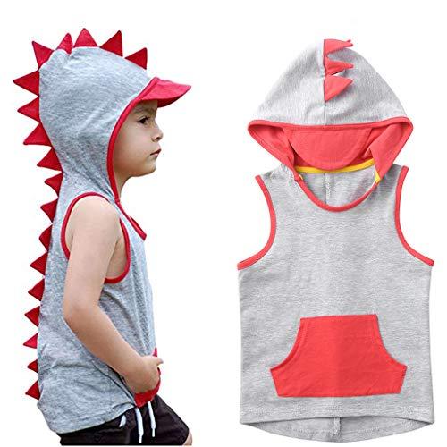 UMFunToddler Kids Baby Boys Cartoon Dinosaur Animal Hooded Tee Tops Casual Sweatshirt (3-4 -
