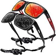 MEETSUN Polarized Sports Sunglasses for Men Fishing Cycling Baseball Running and Driving UV400 Protection