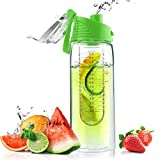 Asobu Flavor It Infuser Water Bottle Pure Fruit Flavour 2 Go, Lime
