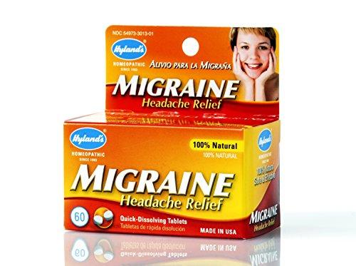 Hyland's Homeopathic Migraine Headache Relief - 60 Tablets (Best Headache Medicine For Kids)