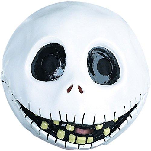 [Jack Skellington Nightmare Before Christmas Men's Costume Latex Mask] (Jack Skellington Mask)