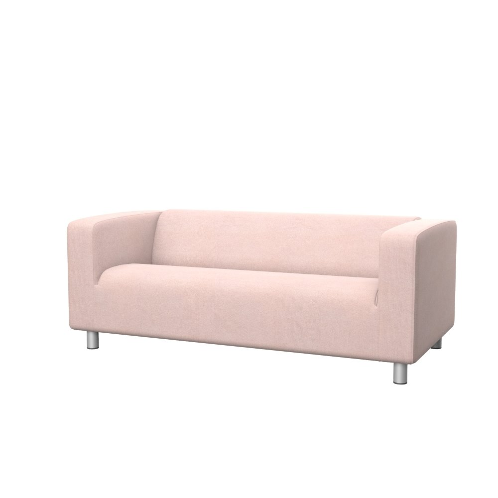 Soferia - Replacement Cover for IKEA KLIPPAN 2-seat Sofa, Glam Baby Pink