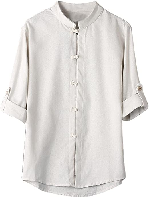 Chinese Tang Kung Fu JacketS Denim Spring Mens Shirt Clothes Cotton Linen CoatS