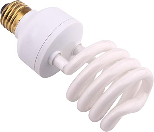 AIICIOO Reptile Light Bulb 5.0 13W Desert Compact Fluorescent Bulb for Amphibian Tortoise Lizard Succulent Plants Improve D3 Synthesis Increase Calcium Absorption 13W