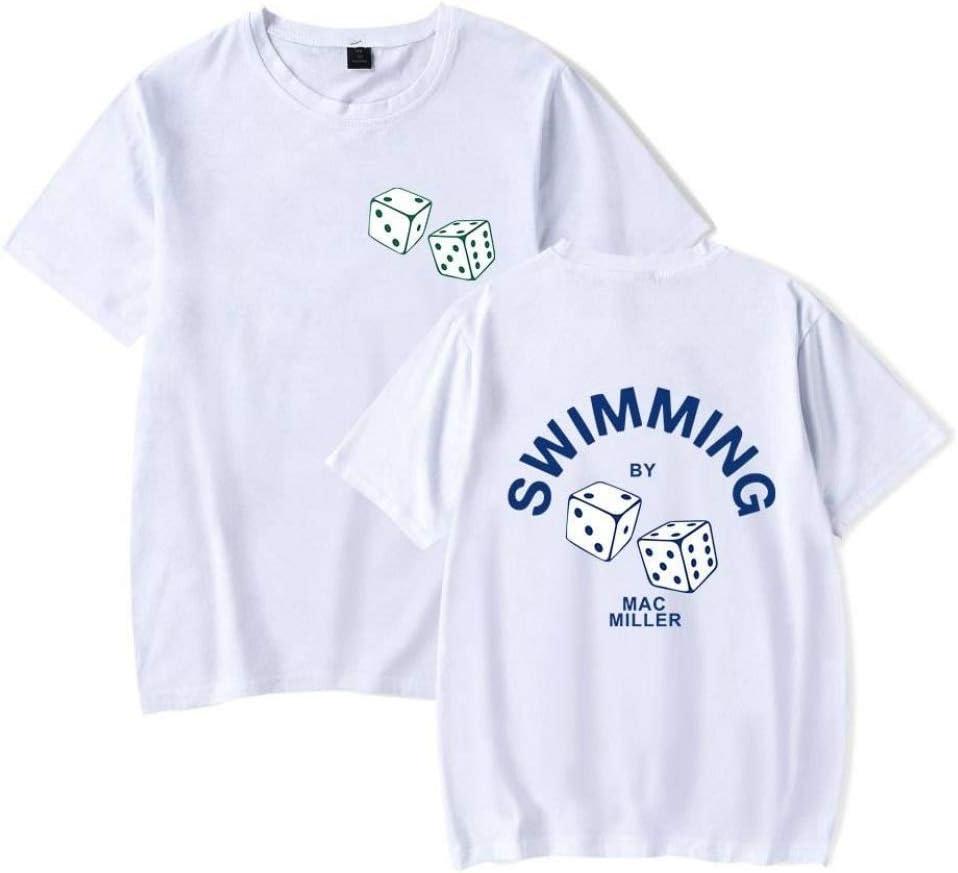 Azul marino WSG 3XL Camiseta Informal para Hombres Y Mujeres Camiseta de Manga Corta con Estampado de Mac Miller Camiseta