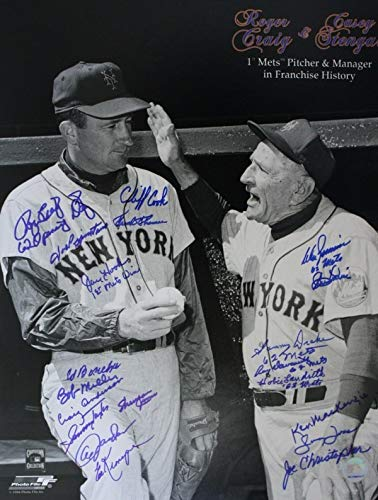 Autographed Signed 16 X 20 1962 New York Mets Photo - Certified Authentic