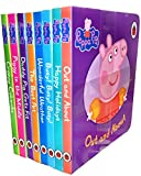 img - for Peppa Pig Children's Picture Flat 8 Board Books Collection Set-Dady Pig Gets Fit, Out and About, Happy Holidays, Busy! Busy! Busy!, Wonderful Weather, The Best Pet, Piggy in the Middle, Creepy Cobwebs book / textbook / text book