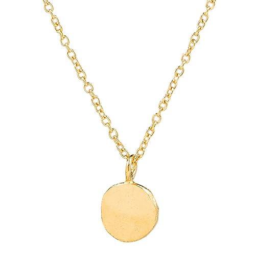 Charlotte Wooning Mujer Cadena Ancient Flat Balón de Oro Colgante ...