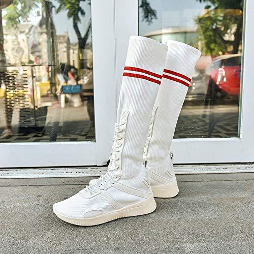 Liuxc Turnschuhe Atmungsaktive Atmungsaktive Atmungsaktive High-Top-Stiefel, Schuhe Sommer wild Stretch atmungsaktiv hoch, um Bequeme Freizeitschuhe zu helfen 8a969c