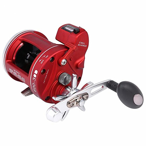 Trolling Fishing Line (Isafish Trolling Reels 12+1BB Boat Fishing Reels with Line Counter Saltwater Round Baitcasting Reel Right Hand 30D)