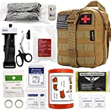 Everlit Emergency Trauma Kit, Multi-Purpose SOS Everyday Carry IFAK for Wilderness, Trip, Cars, Hiking, Camping, Father's Day Birthday Graduation Gift for Him Men Husband Dad Boyfriend and More (Tan)