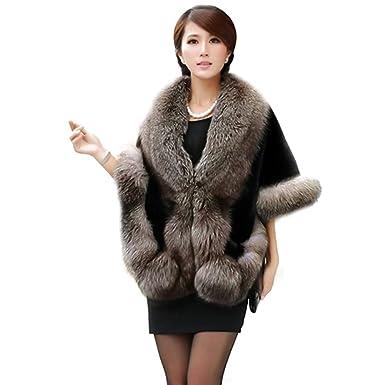 0dd1752cd1a92 TINYPONY ファー肩掛け ショール ケープ マント レディース 毛皮 フォックス ファー フェイクファー 高級感 おしゃれ 暖かい