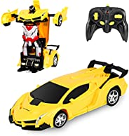 Desuccus Remote Control Car, Transform Robot RC Car for Kids, 2.4Ghz 1:18 Scale Model Racing Car with One-Butt