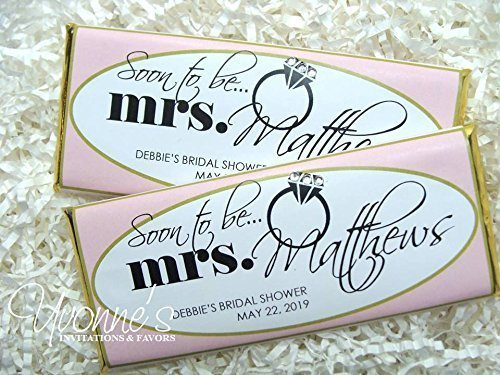 soon to be mrs bridal shower candy bar wrappers chocolate bar favors