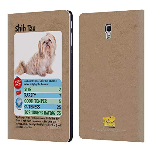Official Top Trumps Shih Tzu Dogs Leather Book Wallet Case Cover for Samsung Galaxy Tab A 10.5 (2018)